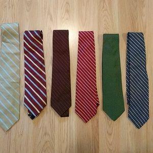 Brooks Brothers silk ties - set of 6